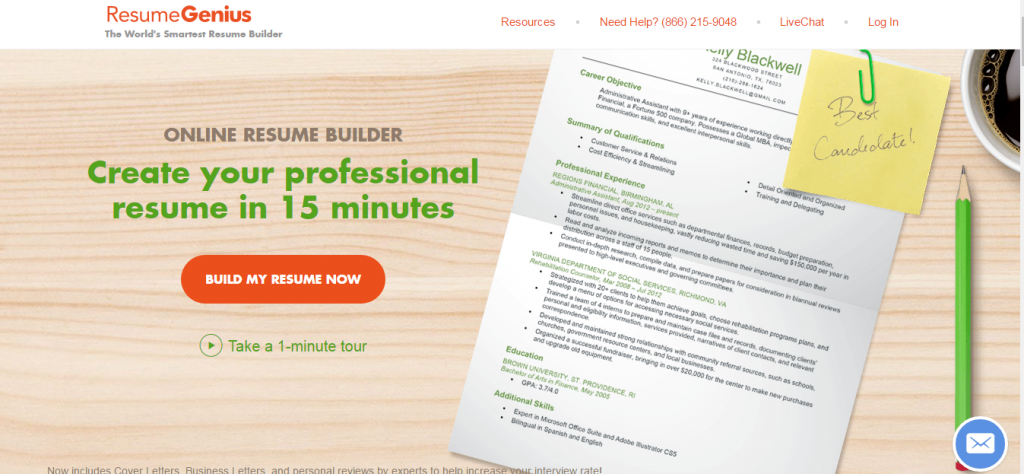 Alphagamma 21 Resume Builders To Make Your CV Stand Out Opportunities  Resumegenius  Make Online Resume