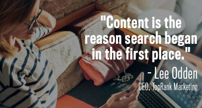 content is why online search started