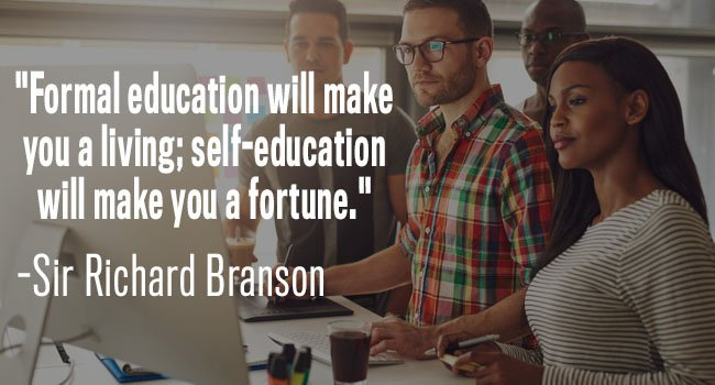 self education will make you a fortune - richard branson